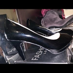 Anne Klein Pat and Leather Heels